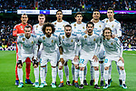 Real Madrid squad poses for photos prior to the UEFA Champions League 2017-18 quarter-finals (2nd leg) match between Real Madrid and Juventus at Estadio Santiago Bernabeu on 11 April 2018 in Madrid, Spain. Photo by Diego Souto / Power Sport Images