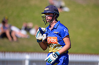 Otago's Olivia Gain during the Hallyburton Johnstone Shield women's cricket match between Wellington Blaze and Otago Sparks at the Basin Reserve in Wellington, New Zealand on Sunday, 14 March 2021. Photo: Dave Lintott / lintottphoto.co.nz