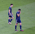 22.06.2021 Croatia v Scotland: Scotland players dejected after Croatia's third goal