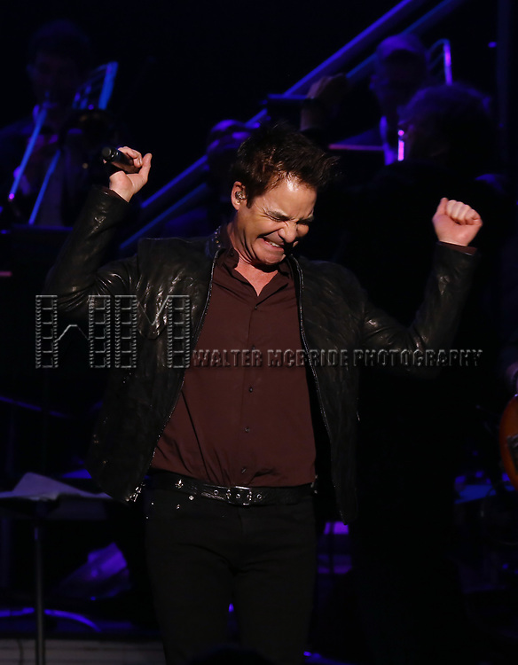 "Pat Monahan during the Broadway Opening Night Performance Curtain Call of  ""Rocktopia"" at The Broadway Theatre on March 27, 2018 in New York City."