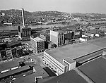 Pittsburgh PA - View of the strip district section of Pittsburgh from the roof of the PA Railroad Station roof.