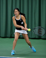 March 15, 2015, Netherlands, Rotterdam, TC Victoria, NOJK, Final girls 14 years, Lian Tran (NED)<br /> Photo: Tennisimages/Henk Koster