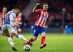 Jorge Resurreccion Merodio, Koke (R), of Atletico de Madrid fights for the ball with Unai Bustinza, Bustinza M, of CD Leganes during the La Liga 2017-18 match between Atletico de Madrid and CD Leganes at Wanda Metropolitano on February 28 2018 in Madrid, Spain. Photo by Diego Souto / Power Sport Images