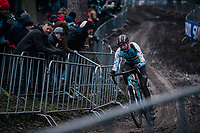 top race for young gun Michael Vanthourenhout (BEL/Marlux-Bingoal)<br /> <br /> Elite Men's Race<br /> UCI CX Worlds 2018<br /> Valkenburg - The Netherlands