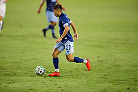 CARSON, CA - OCTOBER 18: Ryan Raposo #27 of the Vancouver Whitecaps moves with the ball looking for an open man during a game between Vancouver Whitecaps and Los Angeles Galaxy at Dignity Heath Sports Park on October 18, 2020 in Carson, California.