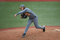 Tennessee Volunteers pitcher Kirby Connell (35) in action against the Charlotte 49ers at Hayes Stadium on March 9, 2021 in Charlotte, North Carolina. The 49ers defeated the Volunteers 9-0. (Brian Westerholt/Four Seam Images)