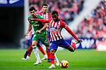 Thomas Lemar of Atletico de Madrid in action during the La Liga 2018-19 match between Atletico de Madrid and Deportivo Alaves at Wanda Metropolitano on December 08 2018 in Madrid, Spain. Photo by Diego Souto / Power Sport Images