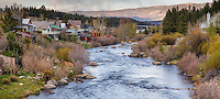 The river flows from Lake Tahoe, 15 miles away, through my home town of Truckee, California, then eastward into Nevada.
