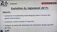 EVOLUTION DU REGLEMENT LM P1