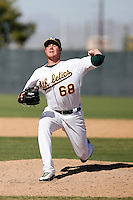Ryan Quigley - Oakland Athletics 2009 Instructional League. .Photo by:  Bill Mitchell/Four Seam Images..