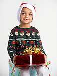 WATERBURY, CT-120218JS01- Christmas Kids, Arti Pari, 5, of Waterbury. <br /> Jim Shannon Republican American