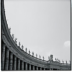 Statues on the basilica at the Vatican in Rome, Italy. Europe before the euro.
