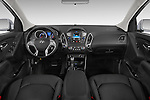 Stock photo of straight dashboard view of a 2015 Hyundai Tucson SE Awd 5 Door Suv 2WD Dashboard