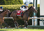 LEXINGTON, KY - APRIL 15: #2 Miss Temple City with jockey Drayden Van Dyke up, win the 28th running of The Maker's 46 Mile $300,000 (Grade I) at Keeneland race course for owner Sagamore Farm, Allen Rosenblum, and The Club Racing LLC, and trainer Graham Motion. April 15, 2016 in Lexington, Kentucky. (Photo by Samantha Bussanich/Eclipse Sportswire/Getty Images)