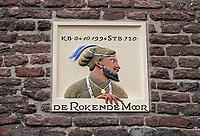 Nederland  Zutphen -  2020.   Gevelsteen de Rokende Moor. De figuur op de gevelsteen rookt niet.    Foto : ANP/ HH / Berlinda van Dam