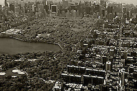 aerial photograph Upper West Side Central Park, Manhattan, New York City