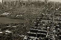 aerial photograph Upper West Side Central Park, Manhattan, New York City