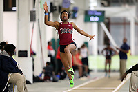 WINSTON-SALEM, NC - FEBRUARY 07: Zinzili Kelley of NC Central University competes in the Women's Long Jump at JDL Fast Track on February 07, 2020 in Winston-Salem, North Carolina.