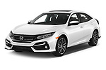 2020 Honda Civic-Hatchback Sport-Touring 5 Door Hatchback Angular Front automotive stock photos of front three quarter view
