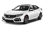 2020 Honda Civic-Hatchback Sport-Touring 5 Door Hatchback Angular Front automotive stock photos of front three quarter view