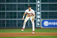 Houston Cougars third baseman Jared Triolo (19) on defense against the Kentucky Wildcats in game two of the 2018 Shriners Hospitals for Children College Classic at Minute Maid Park on March 2, 2018 in Houston, Texas.  The Wildcats defeated the Cougars 14-2 in 7 innings.   (Brian Westerholt/Four Seam Images)