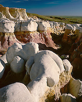 Morning light on the hoodoo formations at the Paint Mines; El Paso County, CO
