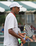 Raj-Ram  defeats JP Smith (AUS) 6-4, 7-6 at the Tennis Hall of Fame Championships in Newport, Rhode Island on July 18, 2015.
