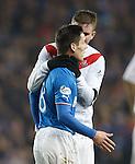 Darren McCormack grabs Ian Black by the throat