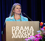 Bonnie Comley on stage during the 2018 Drama League Awards at the Marriot Marquis Times Square on May 18, 2018 in New York City.