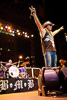 Bret Michaels (of Poison) in concert during Rib America Festival at Soldiers Memorial Park in St. Louis, MO on May 23, 2009.