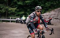 Fabio Aru (ITA/UAE-Emirates) dropped up the Passo di Sant'Antonio<br /> <br /> stage 15: Tolmezzo – Sappada (176 km)<br /> 101th Giro d'Italia 2018