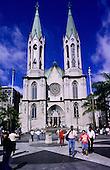 Sao Paulo, Brazil. The Metropolitan Cathedral of Se (Catedral Metropolitana).