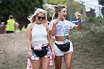 © Joel Goodman - 07973 332324 . 07/06/2015 . Manchester , UK . Festival goers arrive at The Parklife 2015 music festival in Heaton Park , Manchester . Photo credit : Joel Goodman
