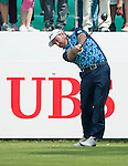 Graeme McDowell of Northern Ireland hits the ball during Hong Kong Open golf tournament at the Fanling golf course on 24 October 2015 in Hong Kong, China. Photo by Xaume Olleros / Power Sport Images