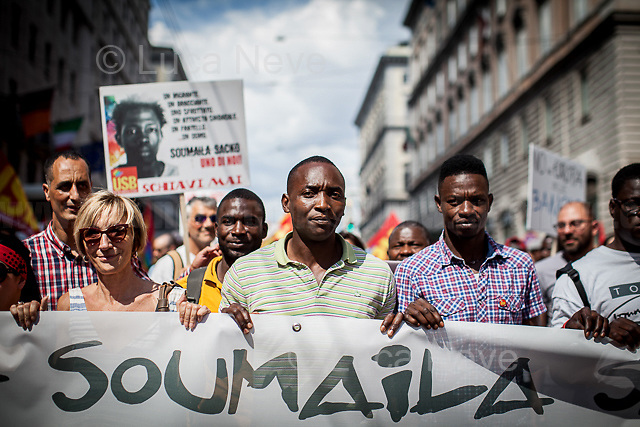 Abubakar, Trade Unionist & Activist. <br /> <br /> Rome, 01/05/2019. This year I will not go to a MayDay Parade, I will not photograph Red flags, trade unionists, activists, thousands of members of the public marching, celebrating, chanting, fighting, marking the International Worker's Day. This year, I decided to show some of the Workers I had the chance to meet and document while at Work. This Story is dedicated to all the people who work, to all the People who are struggling to find a job, to the underpaid, to the exploited, and to the people who work in slave conditions, another way is really possible, and it is not the usual meaningless slogan: MAKE MAYDAY EVERYDAY!<br /> <br /> Happy International Workers Day, long live MayDay!