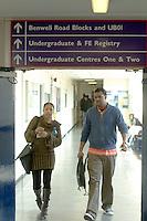 London Metropolitan University, Graduate Centre.  Students going to lectures.