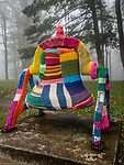 Eagles Mere, PA. historic bell yarn bombed.