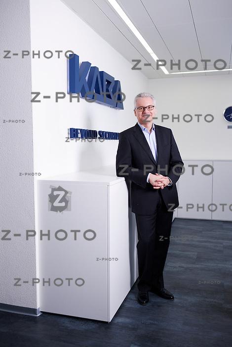 Portrait und Interview von Riet Cadonau CEO des Sicherheitssysteme Herstellers Kaba im Hauptsitz an der Hofwiesenstrasse 24, in Ruemlang am 10. Januar 2013..Copyright © Zvonimir Pisonic