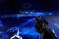 Pictured: Obaro Ejimiwe aka Ghostpoet performs at the Far Out stage. Sunday 22 August 2021<br /> Re: Green Man Festival near Crickhowell, Wales, UK.