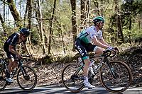 Maximilian Schachmann (DEU/BORA - hansgrohe) up the last climb of the day: the Côte de la Roche-aux-Faucons<br /> <br /> 107th Liège-Bastogne-Liège 2021 (1.UWT)<br /> 1 day race from Liège to Liège (259km)<br /> <br /> ©kramon