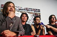 Jaguares Press Conference at the CUM. rock band in Spanish. Saul Hernadez <br /> Rueda de Prensa de Jaguares  en el CUM. banda de rock en español.<br />  17/06/2010 ( foto: Luis Gutierrez/NortePhoto)