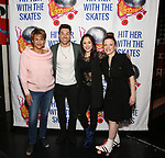 """Alexandra Billings, Ace Young, Diana DeGarmo and Christine Rea attend the Meet the Cast of """"Hit Her WithThe Skates"""" at the Bowlmor Times Square on October 16, 2018 in New York City."""