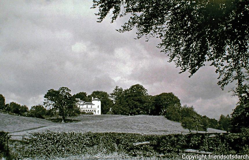 National Trust's Cronkill House on the Attingham Park Estate, Shropshire, is an Italianate villa designed by John Nash,1802.