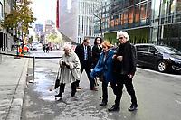 Hommage a Lise Payette, le 20 Octobre 2018 au cinema Imperial,  suite a son deces <br /> - Jeanette Bertrand<br />  et son conjoint<br /> <br /> PHOTO : Agence Quebec Presse