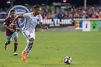 SAN JOSÉ CA - JULY 27: Danny Hoesen #9 during a Major League Soccer (MLS) match between the San Jose Earthquakes and the Colorado Rapids on July 27, 2019 at Avaya Stadium in San José, California.