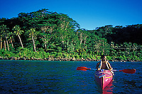 Kayaking at Manase, Savaii, Samoa