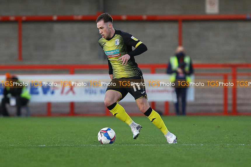 Josh Kay of Barrow AFC during Crawley Town vs Barrow, Sky Bet EFL League 2 Football at Broadfield Stadium on 12th December 2020