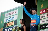 2nd finisher Alejandro Valverde (ESP/Movistar) on the podium<br /> <br /> 113th Il Lombardia 2019 (1.UWT)<br /> 1 day race from Bergamo to Como (ITA/243km)<br /> <br /> ©kramon