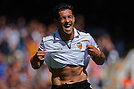 VALENCIA, SPAIN - MAY 04: Ricardo Costa of Valencia CF celebrates after scoring during the Liga BBVA between Valencia CF and C.A Osasuna at the Mestalla stadium on May 04, 2013 in Valencia, Spain. Photo by Aitor Alcalde / Power Sport Images..