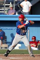 Auburn Doubledays third baseman Matthew Skole #23 during a game against the Batavia Muckdogs at Dwyer Stadium on July 17, 2011 in Batavia, New York.  Batavia defeated Auburn 8-3.  (Mike Janes/Four Seam Images)